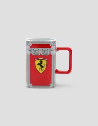 Scuderia Ferrari Online Store - Flight case Scuderia Ferrari ceramic mug - Mugs & Cups