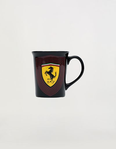Large ceramic mug with 3D Ferrari Shield