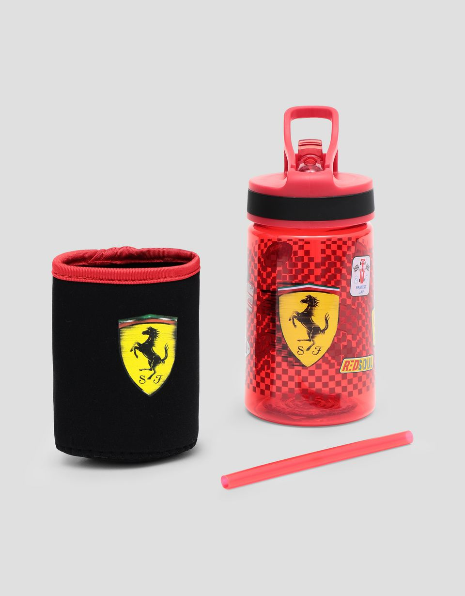 Scuderia Ferrari Online Store - Children's bottle with straw - Flasks & Bottles