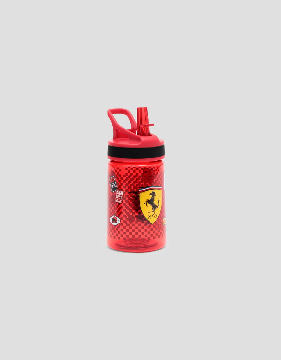 Scuderia Ferrari Online Store - 11.8 oz kids bottle in BPA free Tritan with removable straw and protective insulated sleeve - Flasks & Bottles