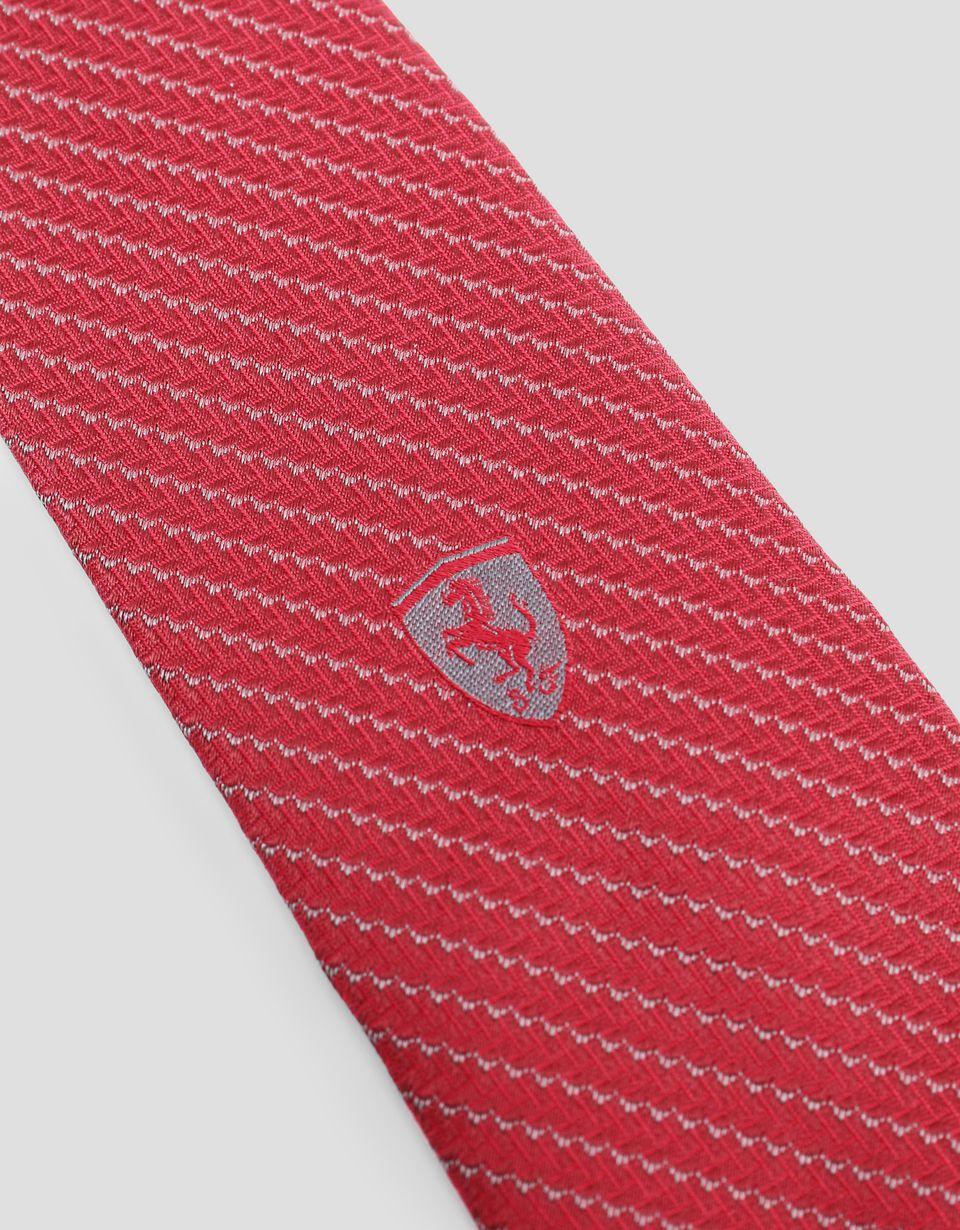Scuderia Ferrari Online Store - Tie with carbon fibre texture - Woven Ties