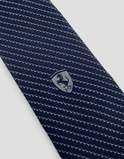 Scuderia Ferrari Online Store - Krawatte mit Carbonfaser-Textur - Webkrawatten