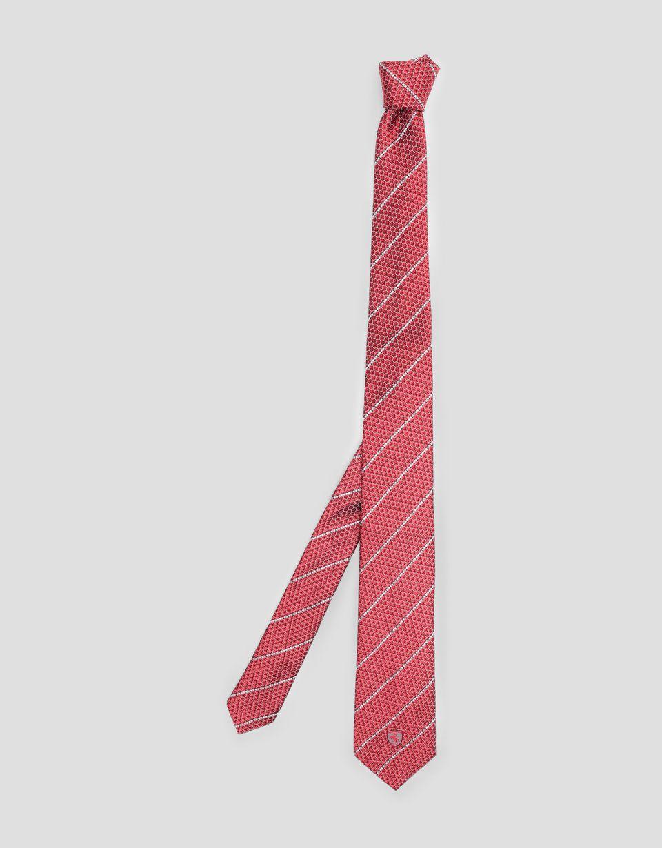 Scuderia Ferrari Online Store - Cravate Scuderia Ferrari avec finition en Téflon - Cravates tissées