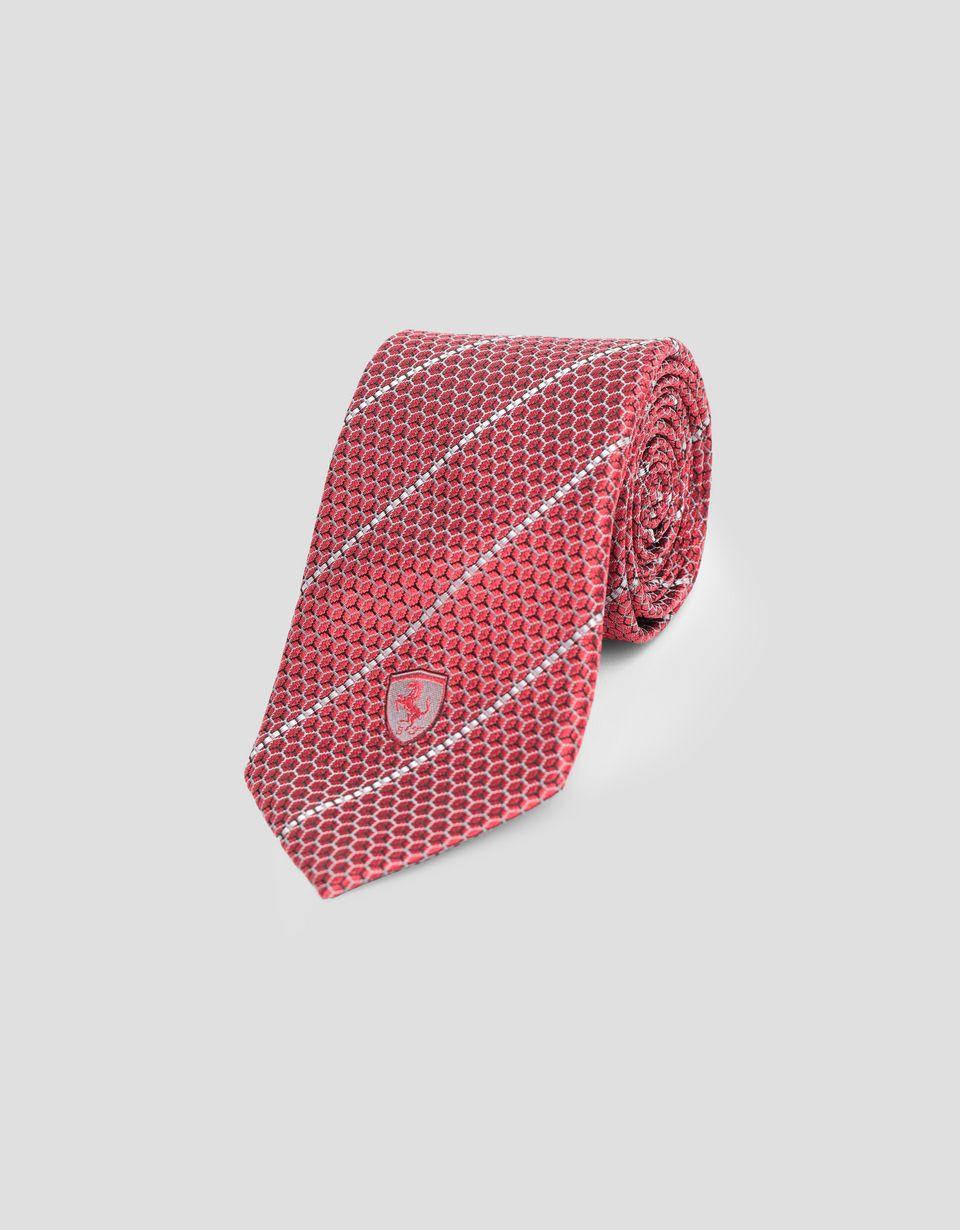 Scuderia Ferrari Online Store - Scuderia Ferrari tie with Teflon finish - Woven Ties