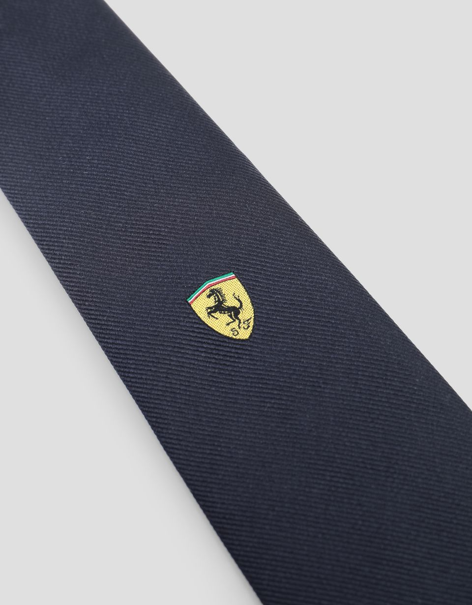 Scuderia Ferrari Online Store - Pure silk Scuderia Ferrari tie - Woven Ties