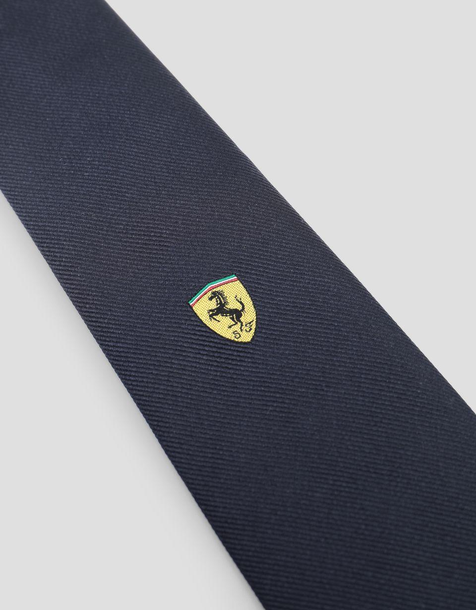 Scuderia Ferrari Online Store - Scuderia Ferrari pure silk tie -