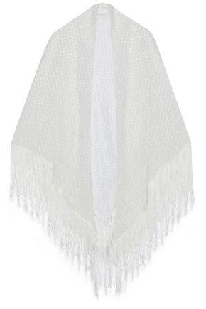 MISSONI Fringed crochet-knit wrap