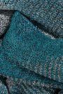 MISSONI メタリック チェック かぎ針編みニット スカーフ