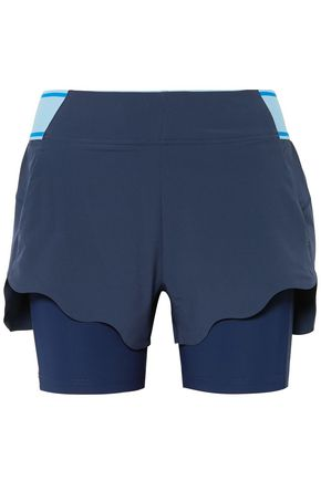 LNDR Turf layered stretch-jersey and shell shorts