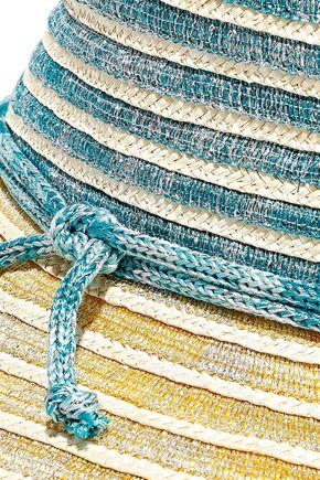 MISSONI Metallic crochet-knit and woven straw sunhat