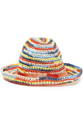 MISSONI Crochet-knit raffia hat
