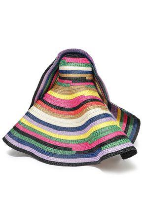 MISSONI Striped woven straw sunhat