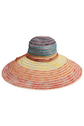 MISSONI MARE Lamé and woven straw sunhat