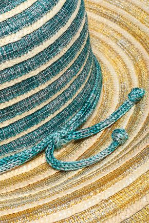 MISSONI MARE Knitted straw-trimmed sunhat