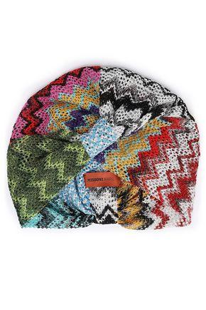 MISSONI MARE Metallic crochet-knit turban