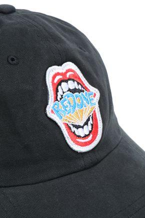 RE/DONE Appliquéd cotton-twill baseball cap