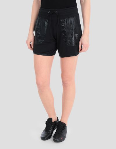 Women's shorts with shiny patches