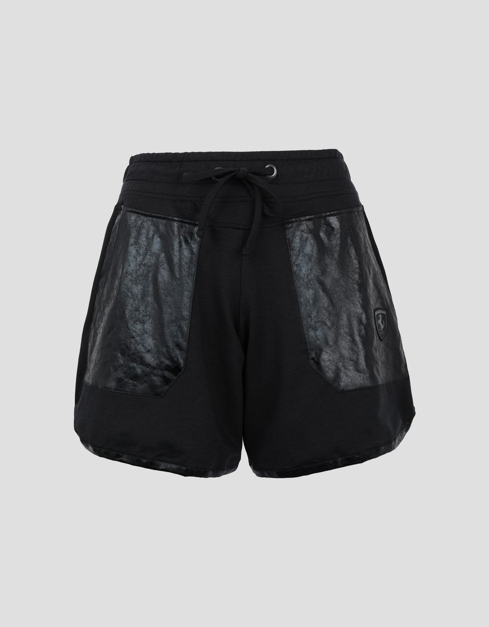 Scuderia Ferrari Online Store - Women's shorts with shiny patches - Shorts