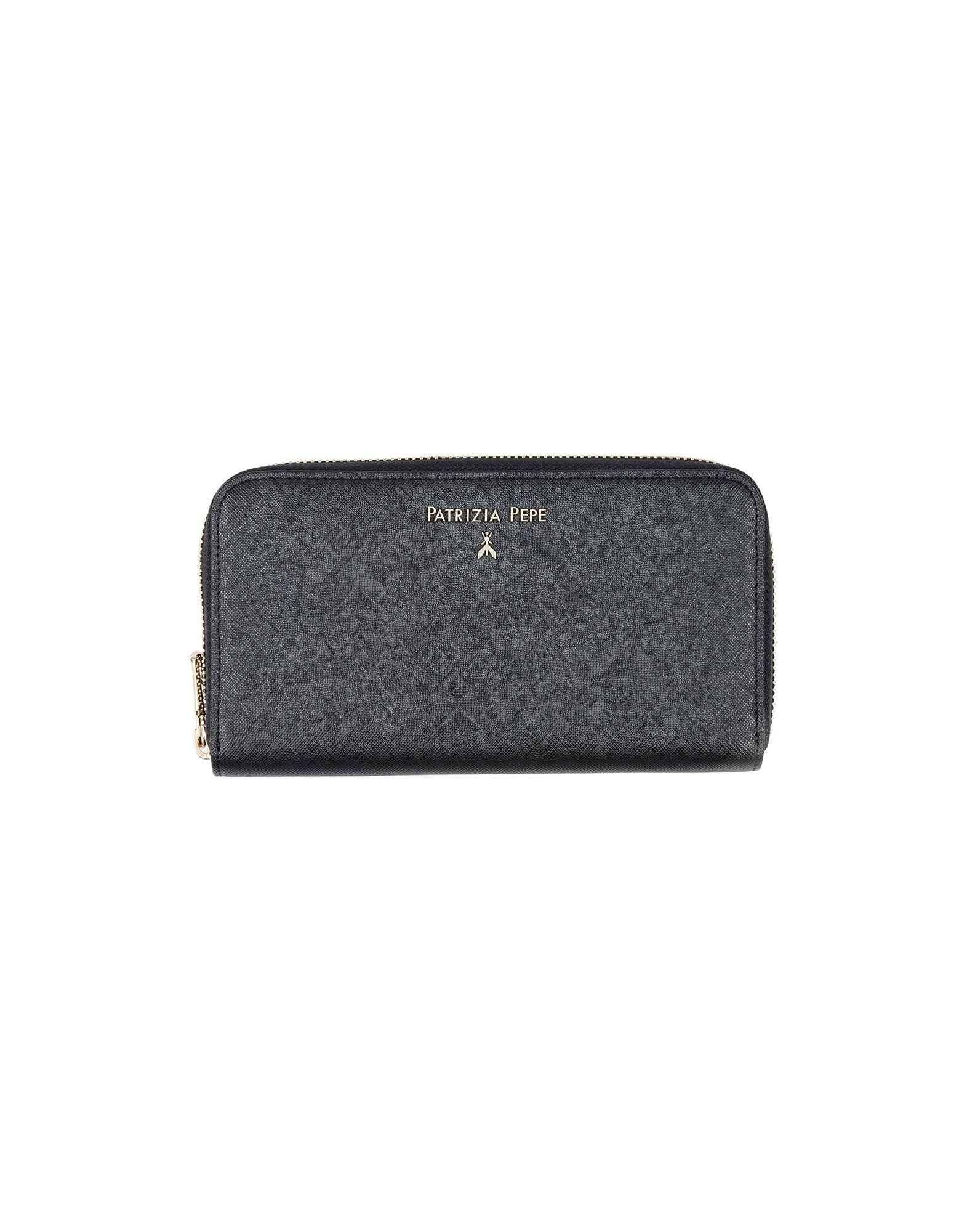 《送料無料》PATRIZIA PEPE レディース 財布 ブラック 革