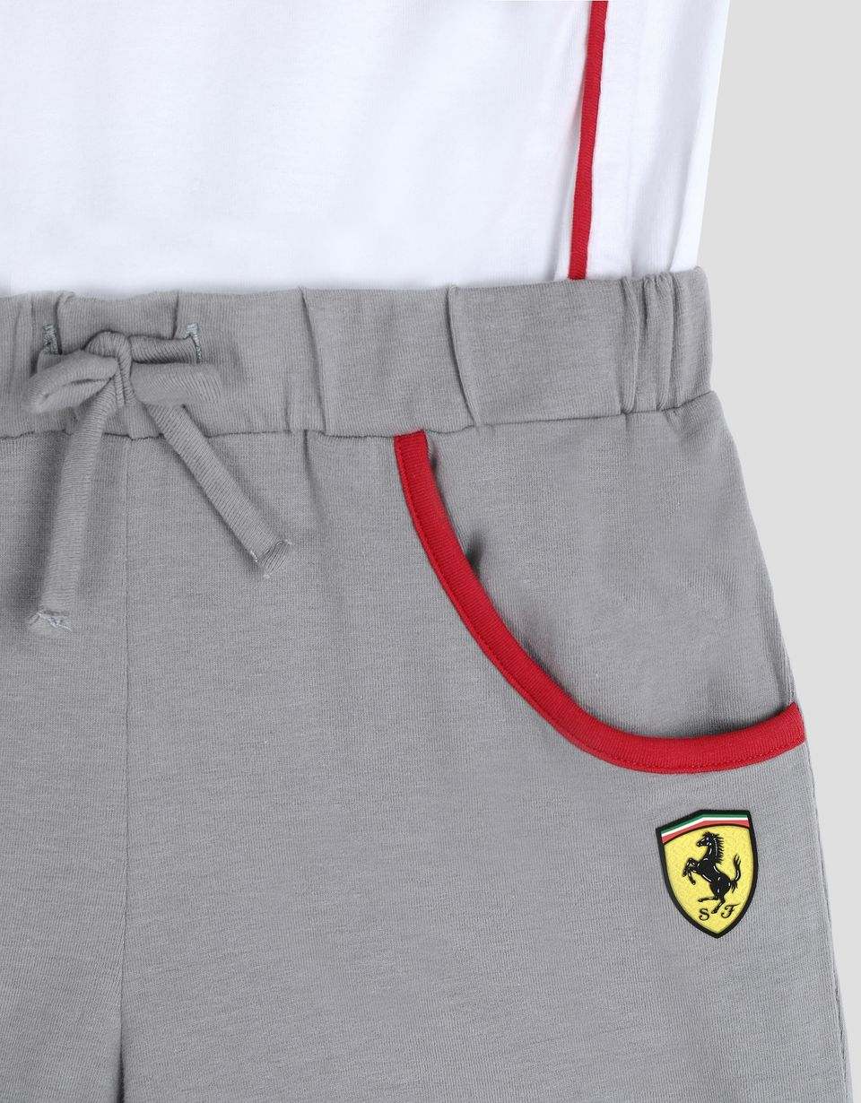 Scuderia Ferrari Online Store - Little girl's jumpsuit with glitter print - Jumpsuits