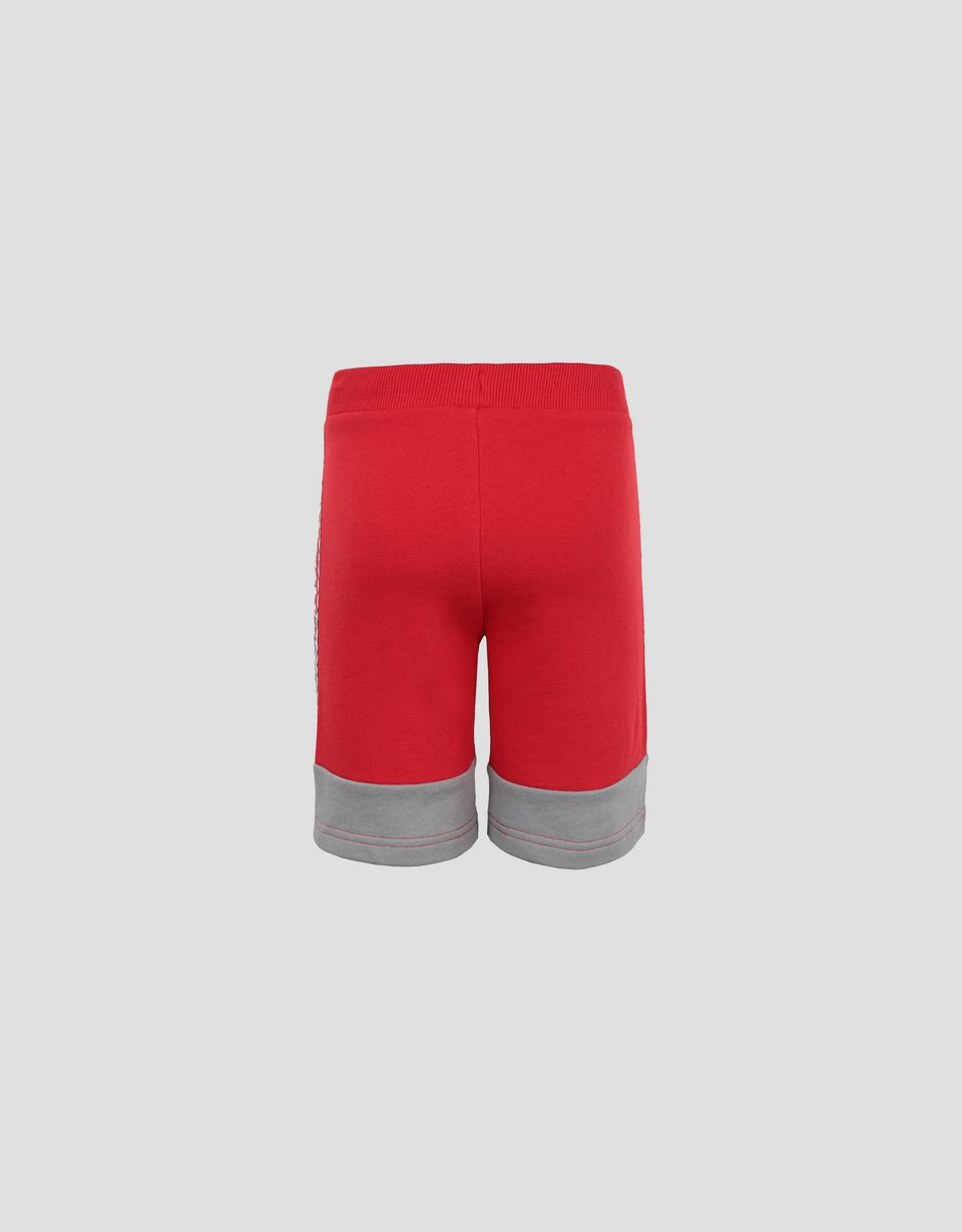 Scuderia Ferrari Online Store - Short enfant en French Terry avec Icon Tape - Shorts