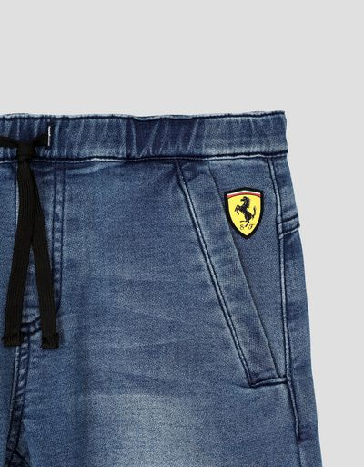 Scuderia Ferrari Online Store - Boys' denim-effect sweatpants - Jeans