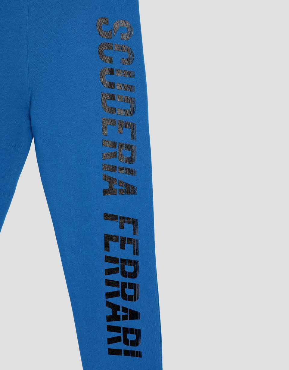 Scuderia Ferrari Online Store - Jungen-Jogginghose aus French Terry mit Scuderia Ferrari Print - Sporthosen