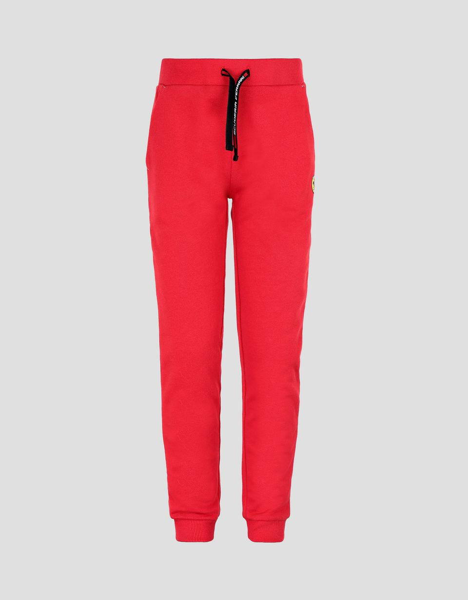 Scuderia Ferrari Online Store - 少年法拉利车队印纹拉绒抓绒面料慢跑裤 - 慢跑裤