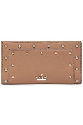 KATE SPADE New York Carlin Street Stacy studded textured-leather continental wallet
