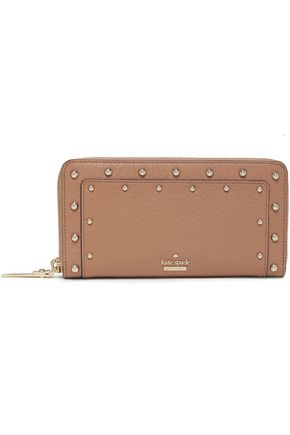 KATE SPADE New York Carlin Street Lacey studded textured-leather continental wallet