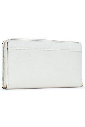 KATE SPADE New York Studded textured-leather wallet
