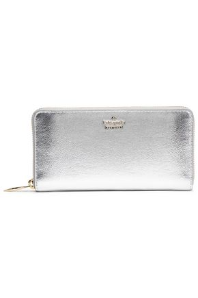 KATE SPADE New York Highland Drive metallic leather continental wallet