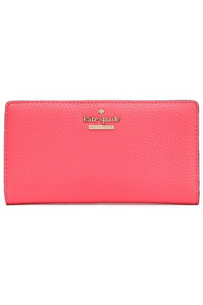 KATE SPADE New York Jackson Street Stacy textured-leather continental wallet