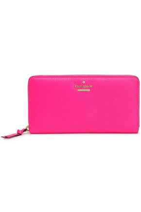KATE SPADE New York Jackson Street Lacey textured-leather continental wallet