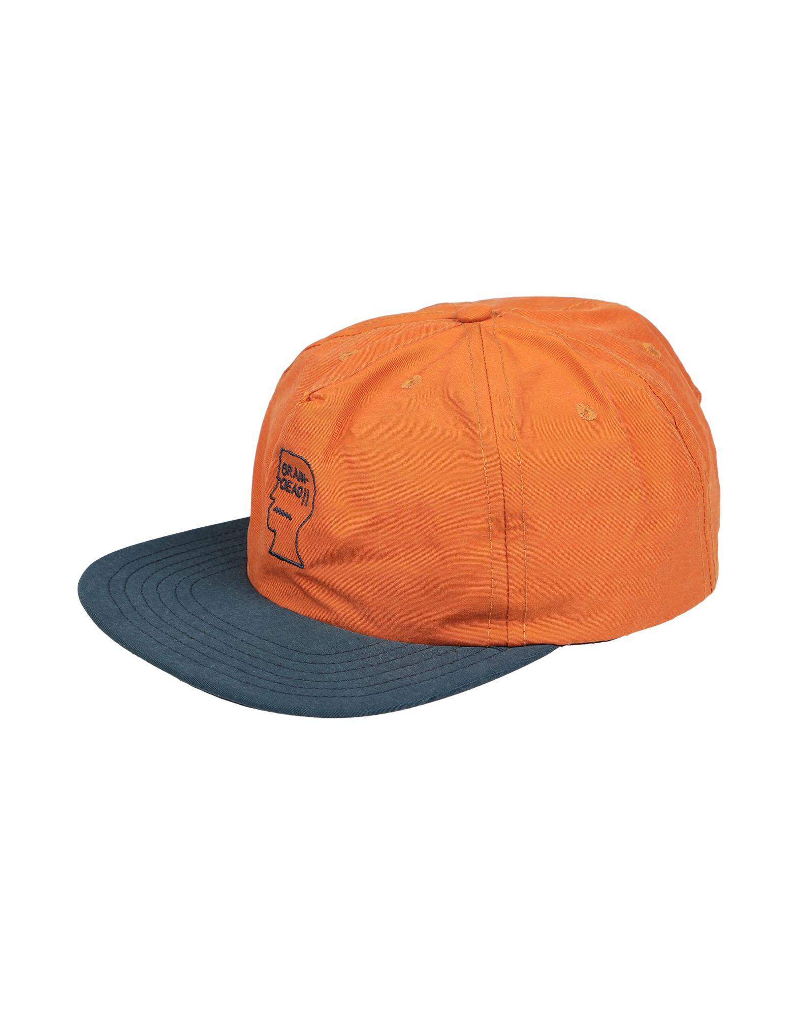 《セール開催中》BRAIN DEAD メンズ 帽子 赤茶色 one size コットン 100%