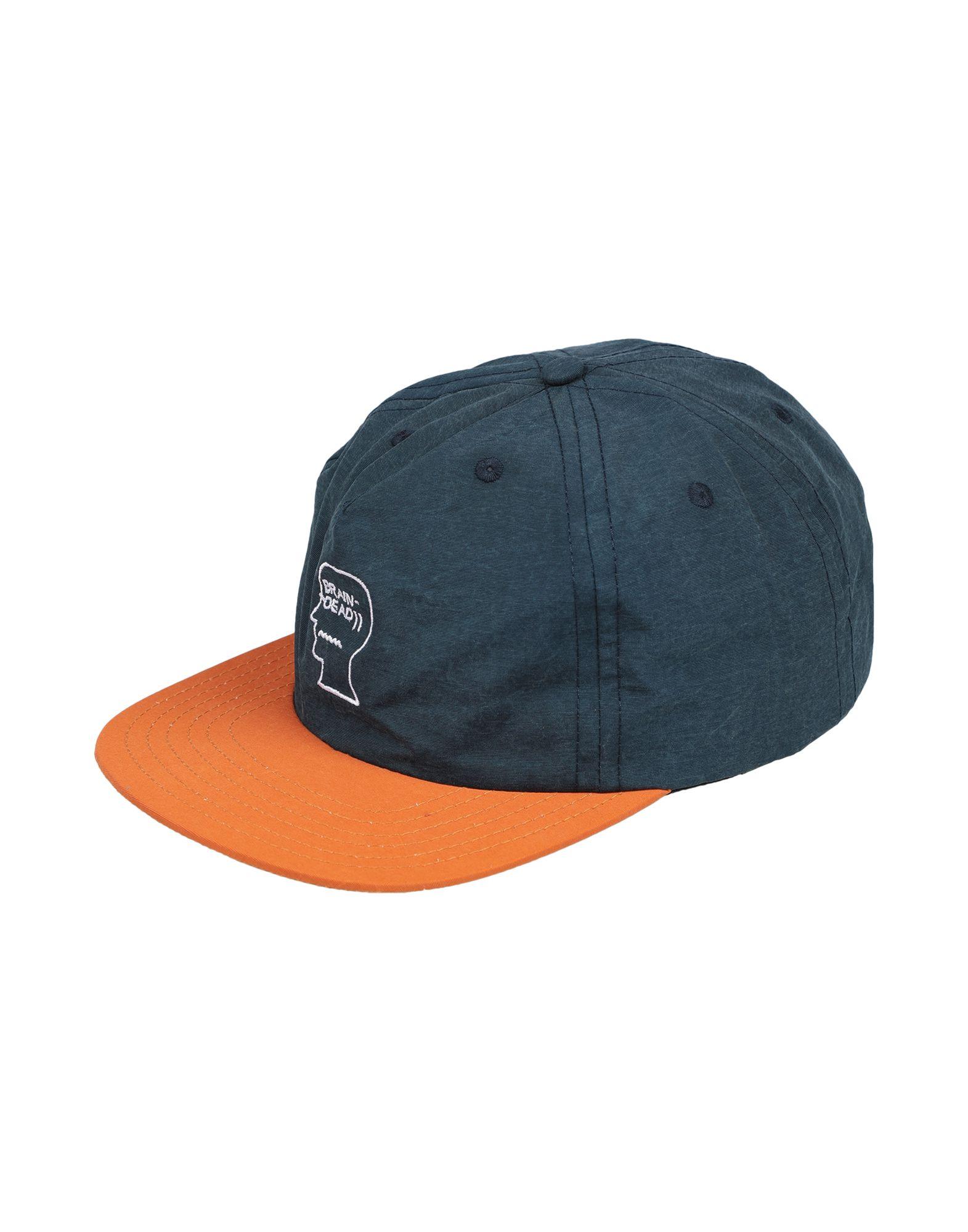 《送料無料》BRAIN DEAD メンズ 帽子 ダークブルー one size コットン 100%