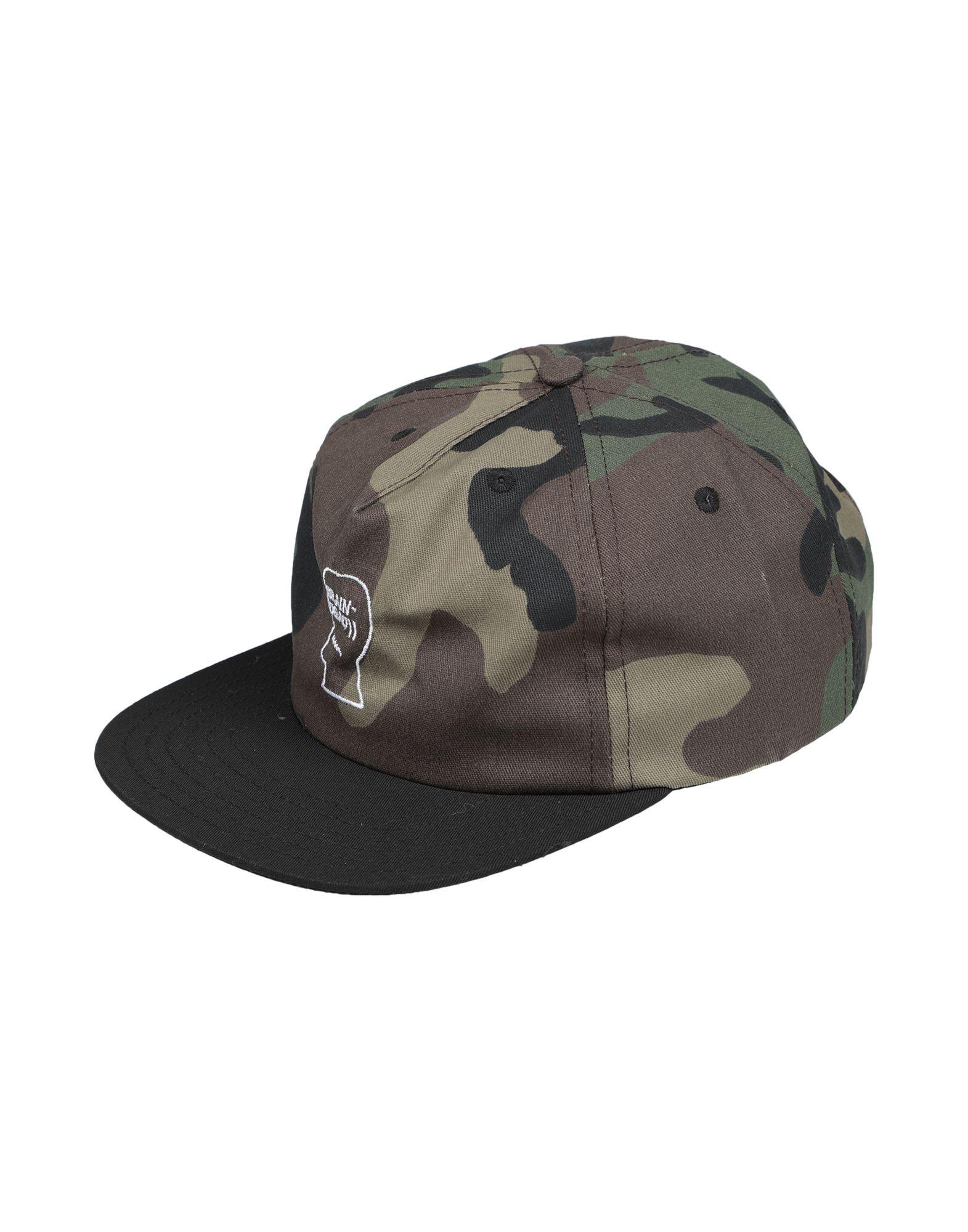 《送料無料》BRAIN DEAD メンズ 帽子 ミリタリーグリーン one size コットン 100%