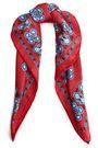 SANDRO Printed silk-twill scarf