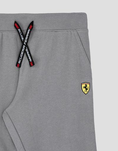 Scuderia Ferrari Online Store - Unisex children's joggers with Scuderia Ferrari Icon Tape - Joggers