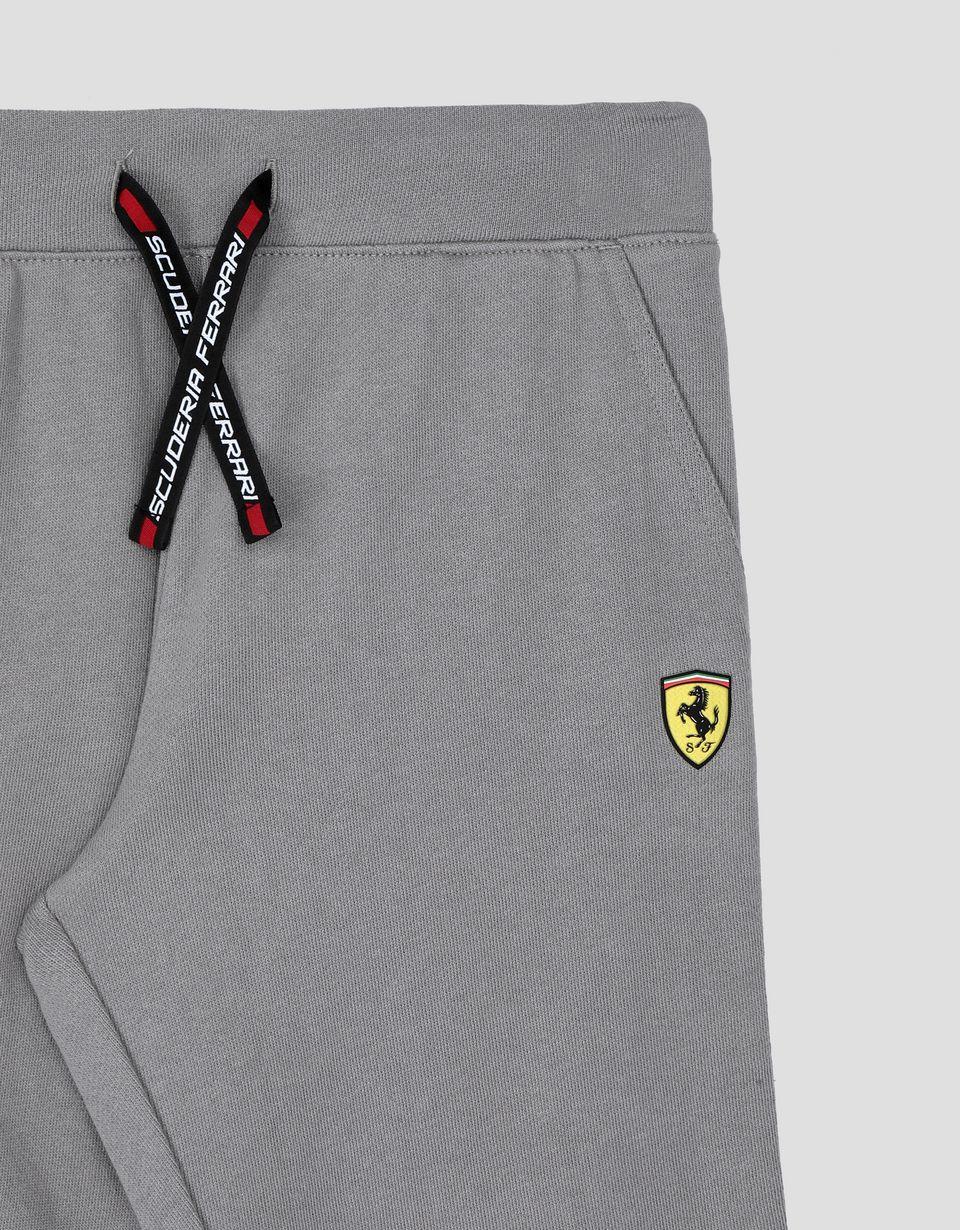 Scuderia Ferrari Online Store - Boy's and girl's joggers with Scuderia Ferrari Icon Tape - Joggers