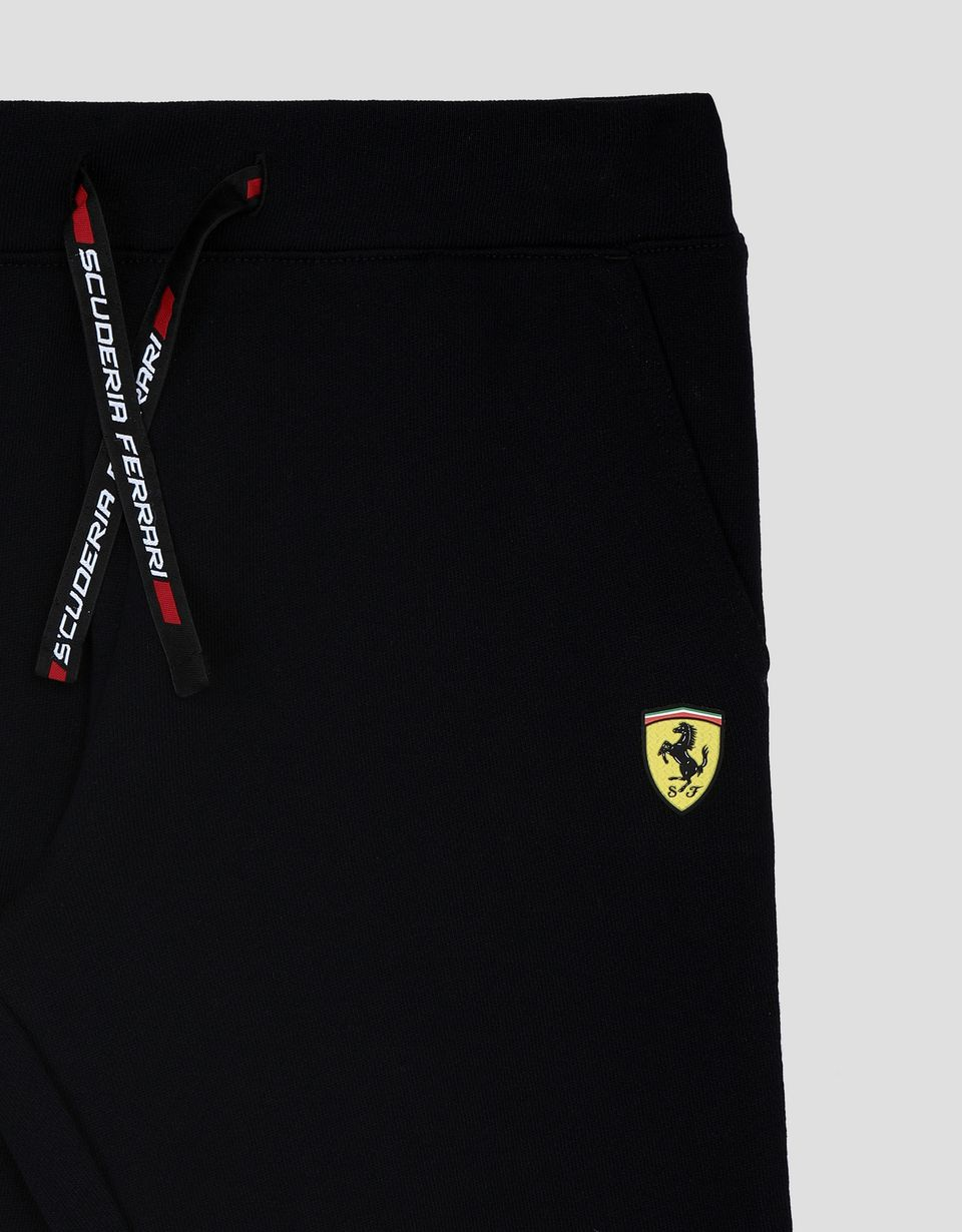 Scuderia Ferrari Online Store - Boy's and girl's joggers with Scuderia Ferrari Icon Tape - Joggers