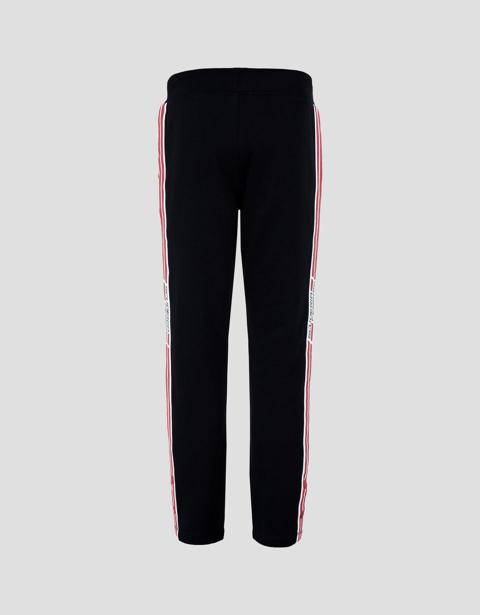 Scuderia Ferrari Online Store - Boy's and girl's joggers with Scuderia Ferrari <i>Icon Tape</i> - Joggers