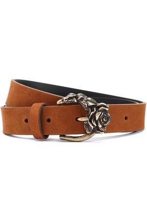 SANDRO Embellished suede belt