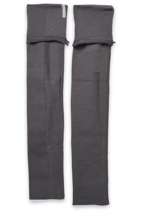 RICK OWENS Wool arm warmers