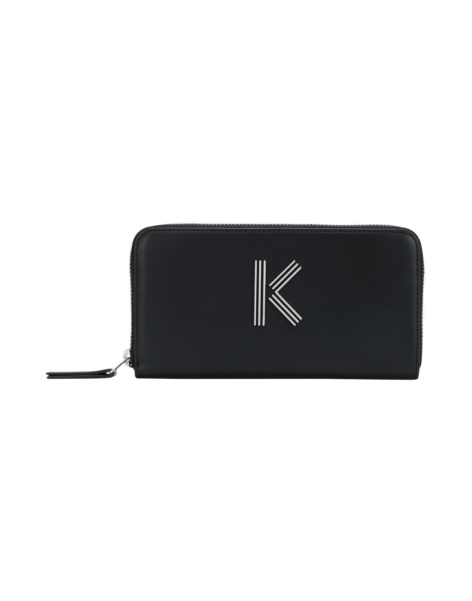Kenzo K Leather Wallet In Black