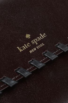 KATE SPADE New York Whipstitched polished-leather continental wallet
