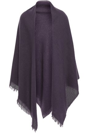 RICK OWENS Frayed cashmere scarf
