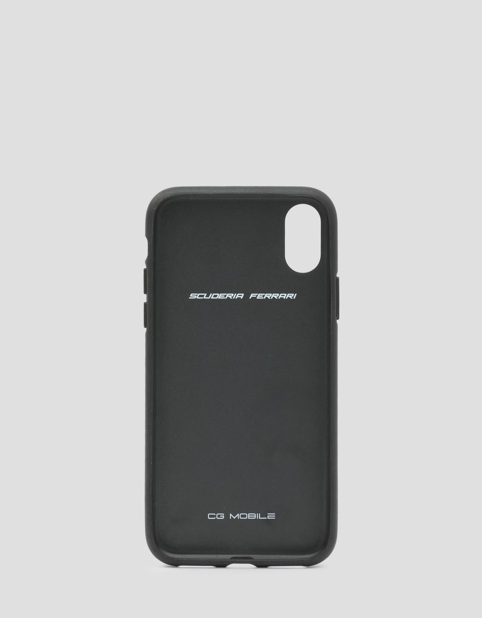 Scuderia Ferrari Online Store - Rigid case in black soft-touch rubber for the iPhone X and XS - Smartphone Accessories