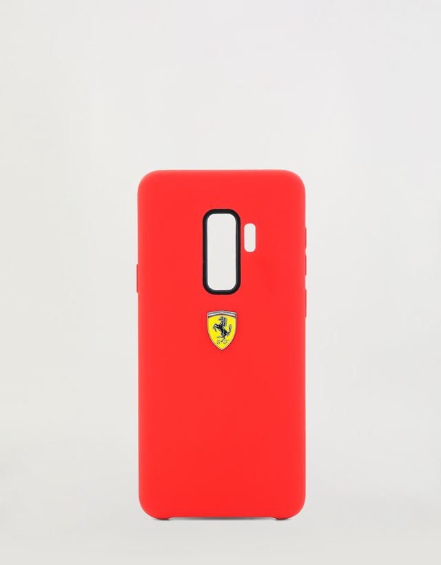 Scuderia Ferrari Online Store - Red rigid silicone case for the Samsung Galaxy S9 Plus - Smartphone Accessories
