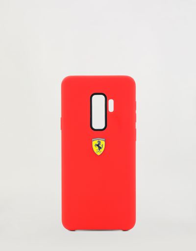Red rigid silicone case for the Samsung Galaxy S9 Plus